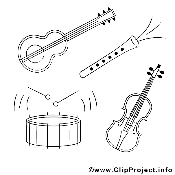 Preschool Instrument Coloring Pages